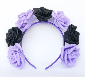 OPASKA DUŻA czarno fioletowa