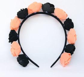 OPASKA MAŁA czarno pomarańczowa