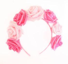 OPASKA DUŻA różowo - ciemno różowa