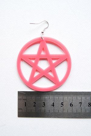 kolczyki pentagramy czarne, goth, gothic, pentagra, pentakl, pastel goth, nu goth, rock, pagan, wiccan, satan
