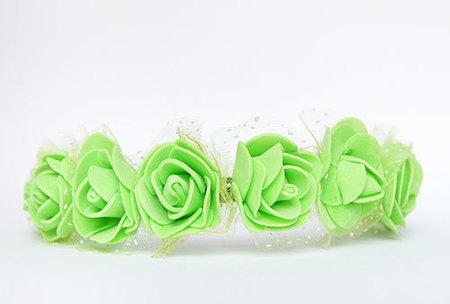 OPASKA MAŁA zielona z tiulem (2)