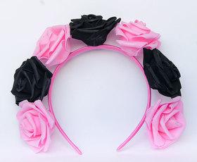 OPASKA DUŻA czarno różowa