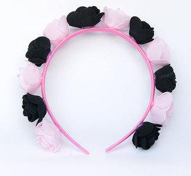 OPASKA MAŁA czarno jasno różowa