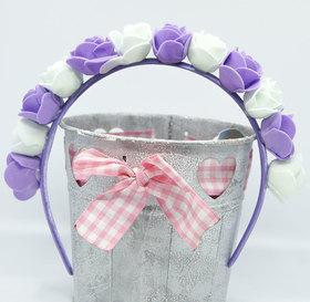 OPASKA MAŁA biało fioletowa