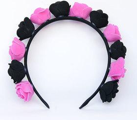 OPASKA MAŁA czarno ciemno różowa