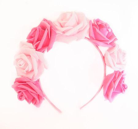 OPASKA DUŻA różowo - ciemno różowa (1)