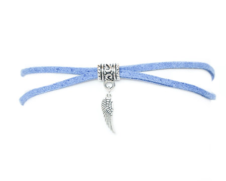 Choker niebieski skrzydełko (1)