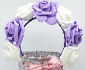 OPASKA DUŻA biało fioletowa