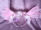 Pink angel - opaska z różowymi skrzydłami (3)