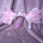 Pink angel - opaska z różowymi skrzydłami (1)