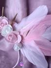 White&Pink Angel - opaska z białymi i różowymi skrzydłami (3)