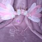 White&Pink Angel - opaska z białymi i różowymi skrzydłami (1)