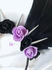 Black and purple angel - opaska z czarnymi skrzydłami (4)