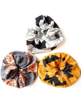 Halloween scrunchies - zestaw (1)