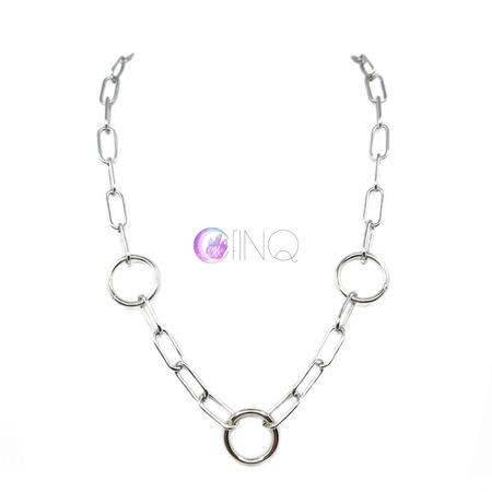 Gruby łańcuch na szyję - kółeczka (1)