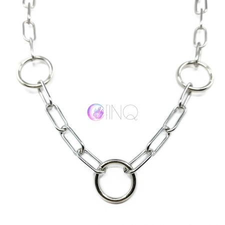 Gruby łańcuch na szyję - kółeczka (2)