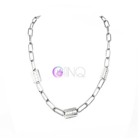 Gruby łańcuch na szyję - żyletki (1)