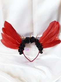 Dark red angel - opaska z bordowymi skrzydłami