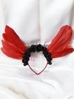 Dark red angel - opaska z bordowymi skrzydłami (1)