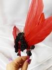 Dark red angel - opaska z bordowymi skrzydłami (3)