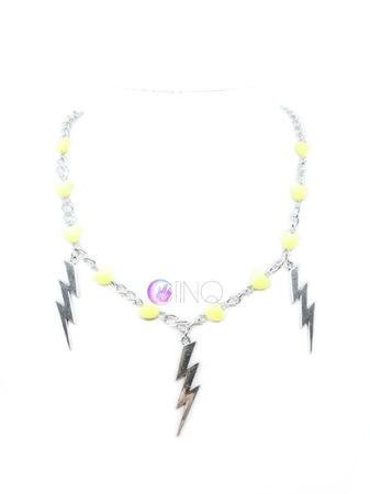 Yellow Lightning - łańcuch z błyskawicami (1)