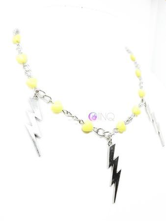 Yellow Lightning - łańcuch z błyskawicami (2)