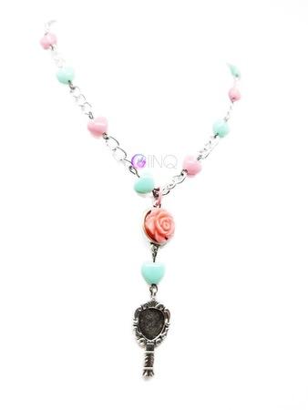 Pink Rose - łańcuch z różyczką (2)